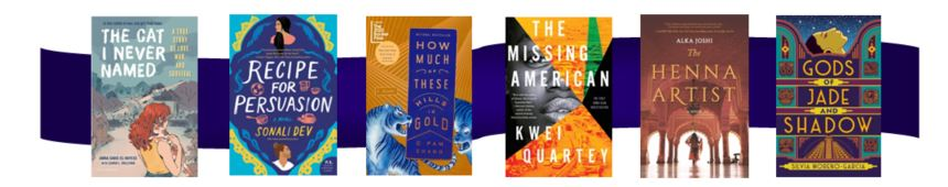 Image shows six covers from book list